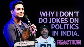 Kenny Sebastian | Why I Don't Do Jokes About Politics in India | Reaction