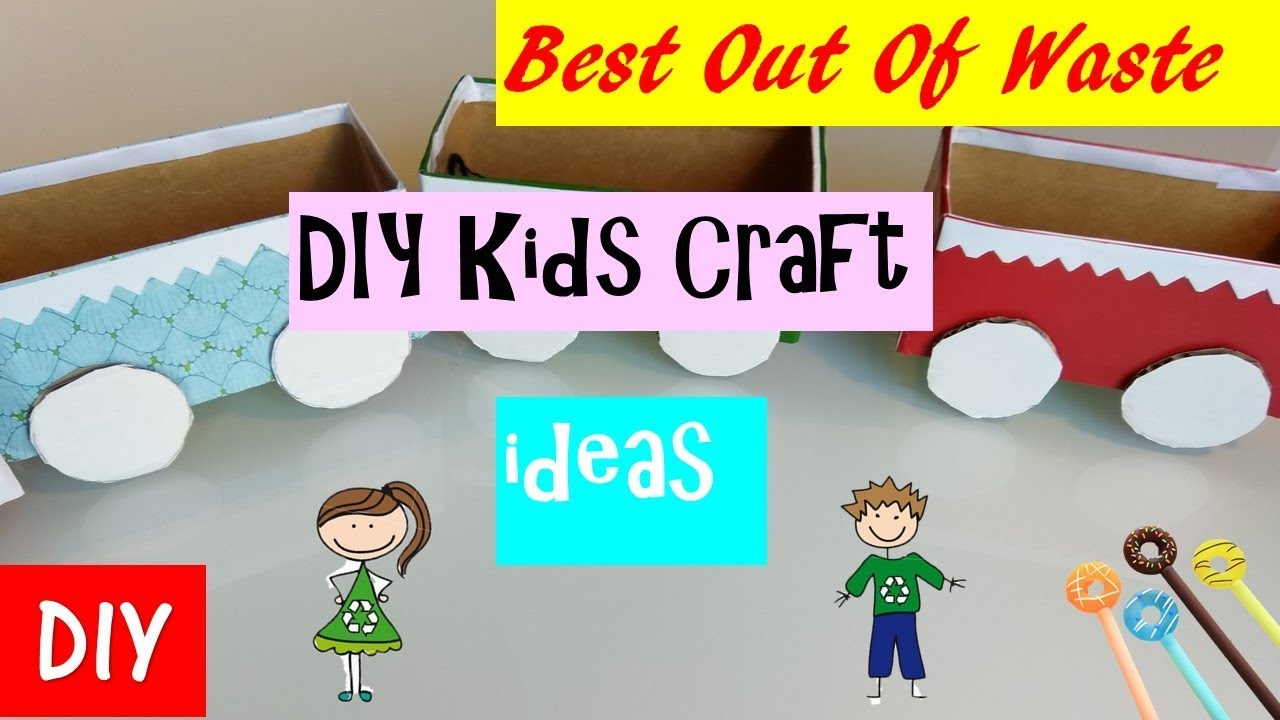 Best Out Of Waste Craft Ideas For Kids Part - 50: Diy | Kids Toys From Waste | Kids Toys You Can Make Yourself | Best Out Of Waste  Craft Ideas | Kids