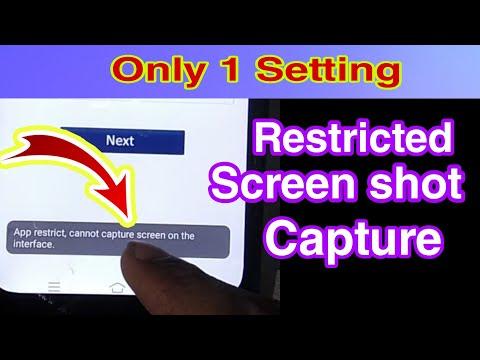 App Restricted Screenshot Captured Problem Fix/how To Take Restricted Screenshot