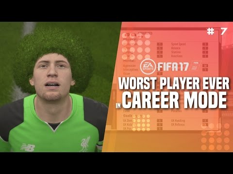 WORST PLAYER EVER IN FIFA 17 CAREER MODE!!! | THE BOX IN GOAL! - 1 OVR Player (Parody) [#7]
