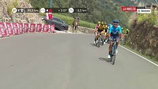 Nairo tries it - Stage 20 - La Vuelta 2018