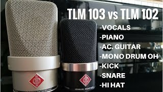Neumann TLM 102 vs TLM 103 comparison mic shootout