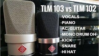 Neumann TLM 102 vs TLM 103 comparison mic shootout