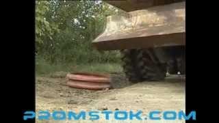Loadtrack(Наезд на пластиковый канализационный колодец колесным трактором, прочностные характеристики канализацио..., 2013-02-14T17:11:12.000Z)