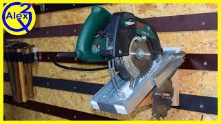 Making a Simple Circular Saw Tool Stand for a Tool Wall