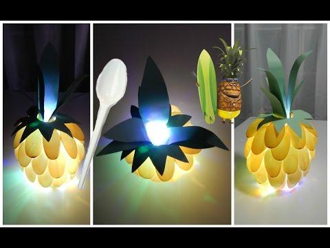 diy fran ais veilleuse ananas id e cadeau d co a faire soi m me youtube. Black Bedroom Furniture Sets. Home Design Ideas