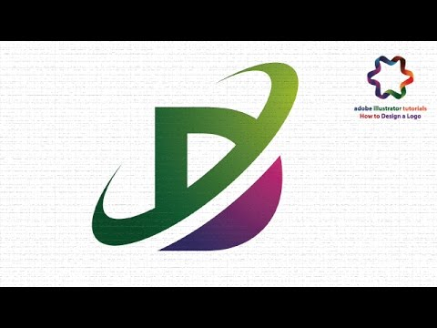 Illustrator Tutorial Logo Design How To Make Letter D Logo Using