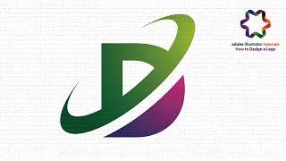illustrator tutorial logo design - how to make letter D logo using font style - simple logo design