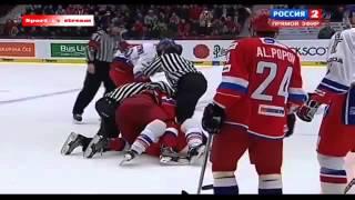ЖЁСТКАЯ ДРАКА НА МАТЧЕ! Хоккей Чехия Россия 5.02.2015 Евротур 2015