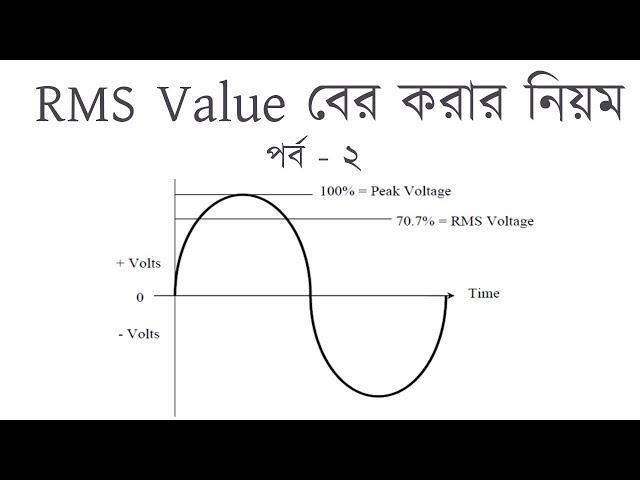 RMS Value Part - 2 | How to find out RMS Value | আর,এম,এস এস | Voltage Lab