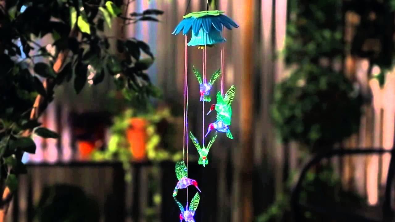 Hanging Hummingbirds Solar Mobile (2SP4276) From Evergreen Garden