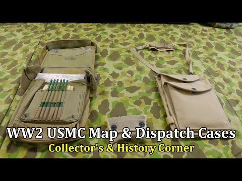 World War 2 Usmc Map And Dispatch Cases Collector S History Corner
