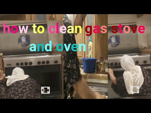 How to clean gas stove and oven