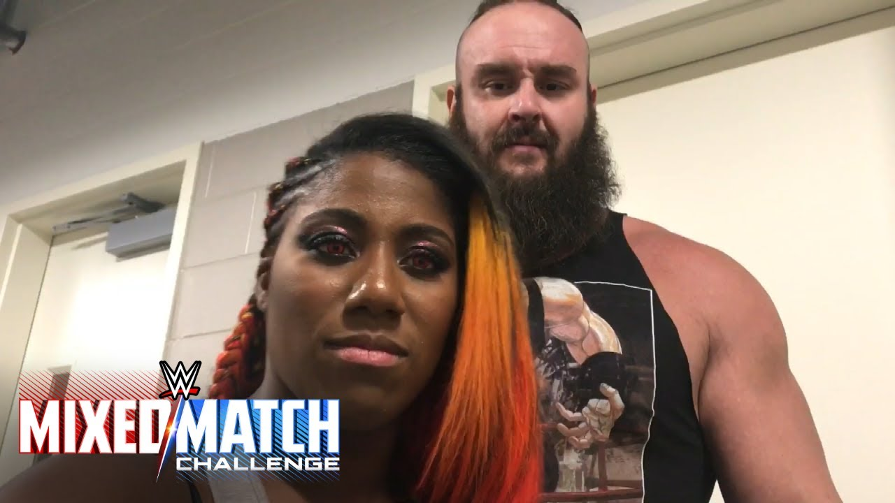 Help Braun Strowman & Ember Moon pick their team name right now at Facebook  Watch
