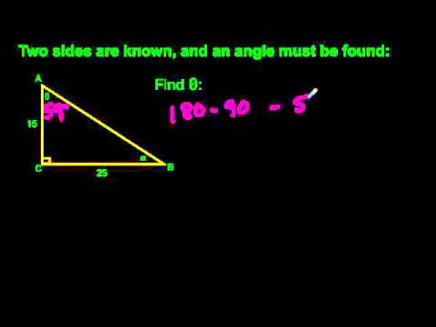 1.1 Review of Right Angle Trigonometry