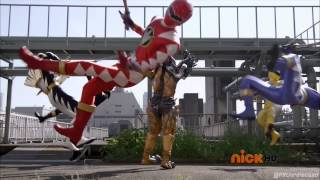 Legendary Dino Thunder Rangers Fight: Dino Thunder Theme (Super Megaforce)