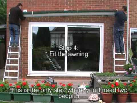 how to install an awning quick guide youtube