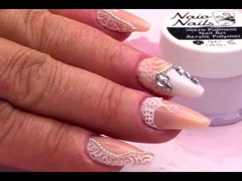 Vintage bridal nail art design tutorial simple lace effect 3d vintage bridal nail art design tutorial simple lace effect 3d acylic youtube prinsesfo Images