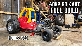 Building a 550cc Little Tikes Car in 18 Minutes | 40HP Cozy Coupe Go Kart Build