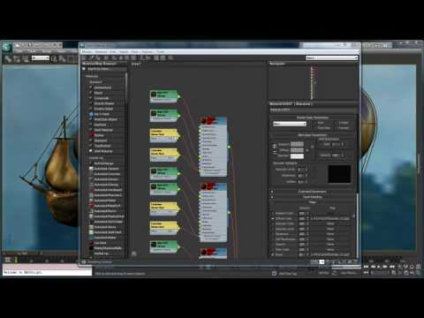 Slate Material Editor 3ds Max 2011 New Features Youtube