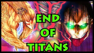 The END! FLYING Titan vs Eren's ULTIMATE Titan! | Attack on Titan / Shingeki no Kyojin