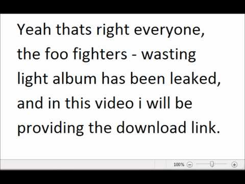 Foo Fighters - Wasting Light Album Leaked! [Download Here]