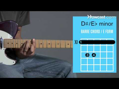 how to play e / d  minor barre chord | guitar lessons