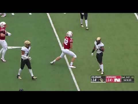 Mustafa Johnson (Colorado DL) vs. Nebraska 2018