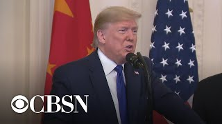 """Trump signs """"Phase One"""" of limited trade deal with China"""