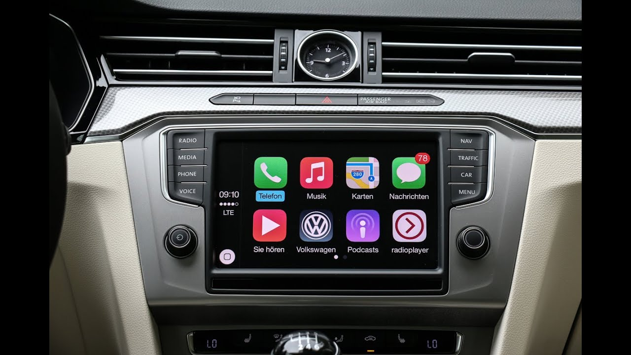 apple carplay im vw passat alltrack tech check review. Black Bedroom Furniture Sets. Home Design Ideas