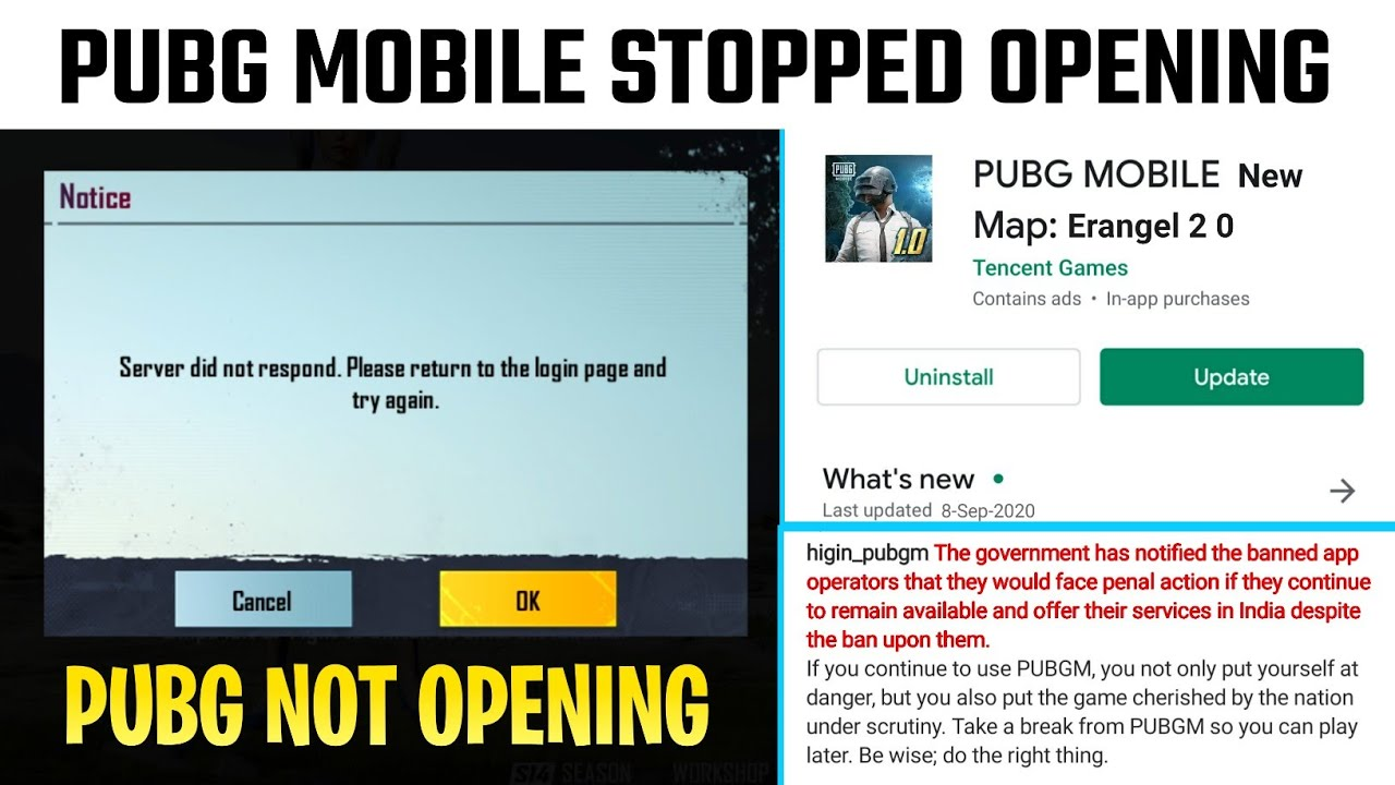 PUBG MOBILE STOPPED OPENING || PUBG NOT GOING TO OPEN ANYMORE || PUBG SEASON 15 RELEASE DATE || PUBG