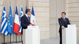 <span class='as_h2'><a href='https://webtv.eklogika.gr/koines-diloseis-kyriakoy-mitsotaki-emmanuel-macron-sto-parisi' target='_blank' title='Κοινές δηλώσεις Κυριάκου Μητσοτάκη - Emmanuel Macron στο Παρίσι'>Κοινές δηλώσεις Κυριάκου Μητσοτάκη - Emmanuel Macron στο Παρίσι</a></span>