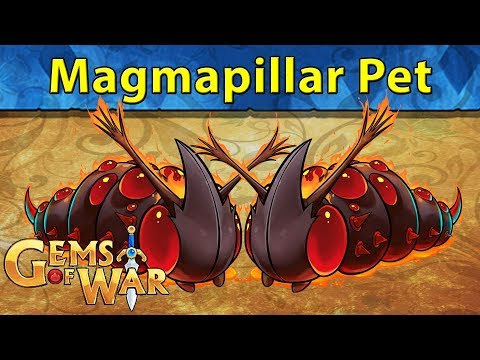 Gems of War: Magmapillar Pet Rescue | 1 VS 4 Mang ONLY and Elemental Teams