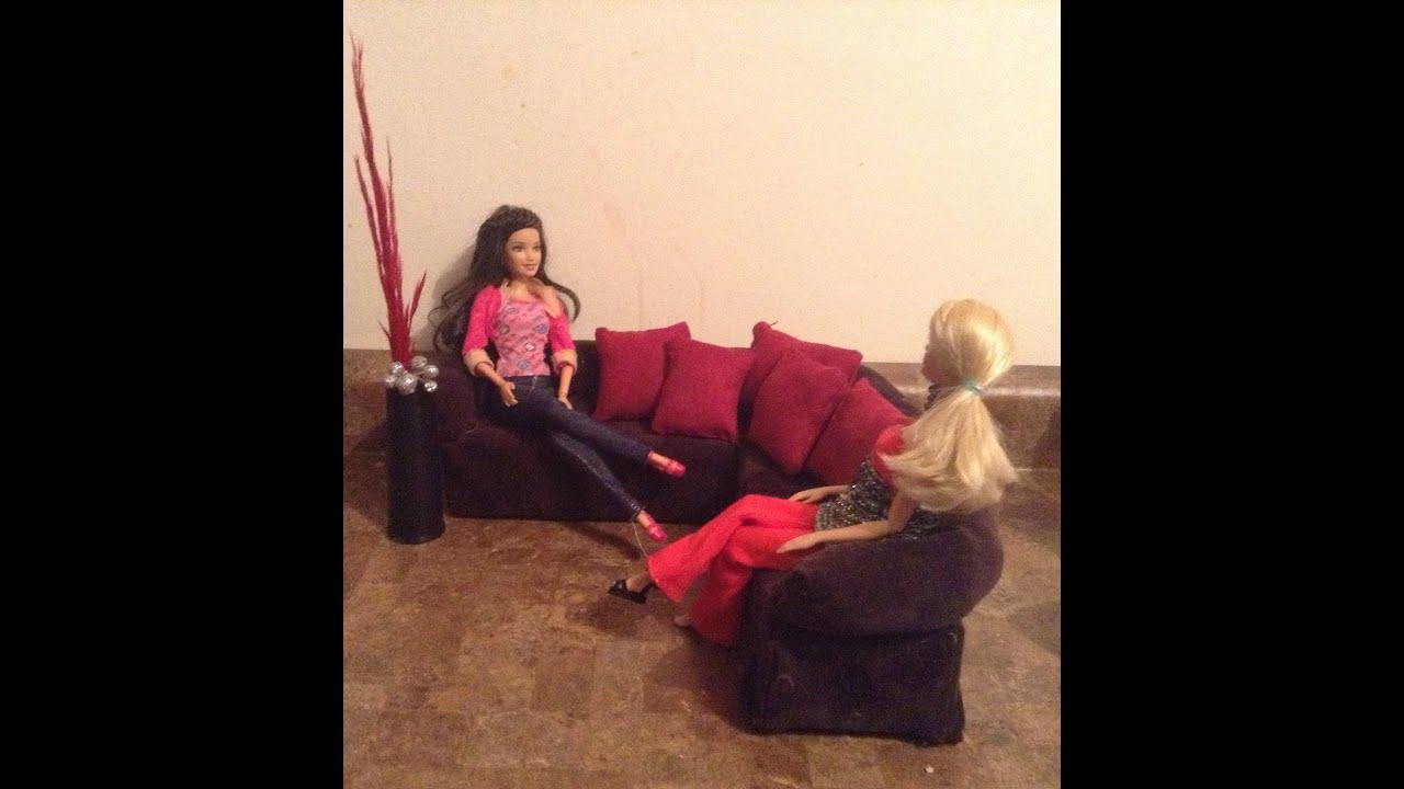 como hacer una sala para mu ecas barbie mosnter high y