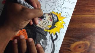 Naruto vs Sasuke drawing/ coloring