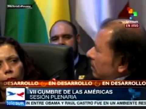 Intervención del Presidente Daniel Ortega en la Cumbre de Las Américas 2015