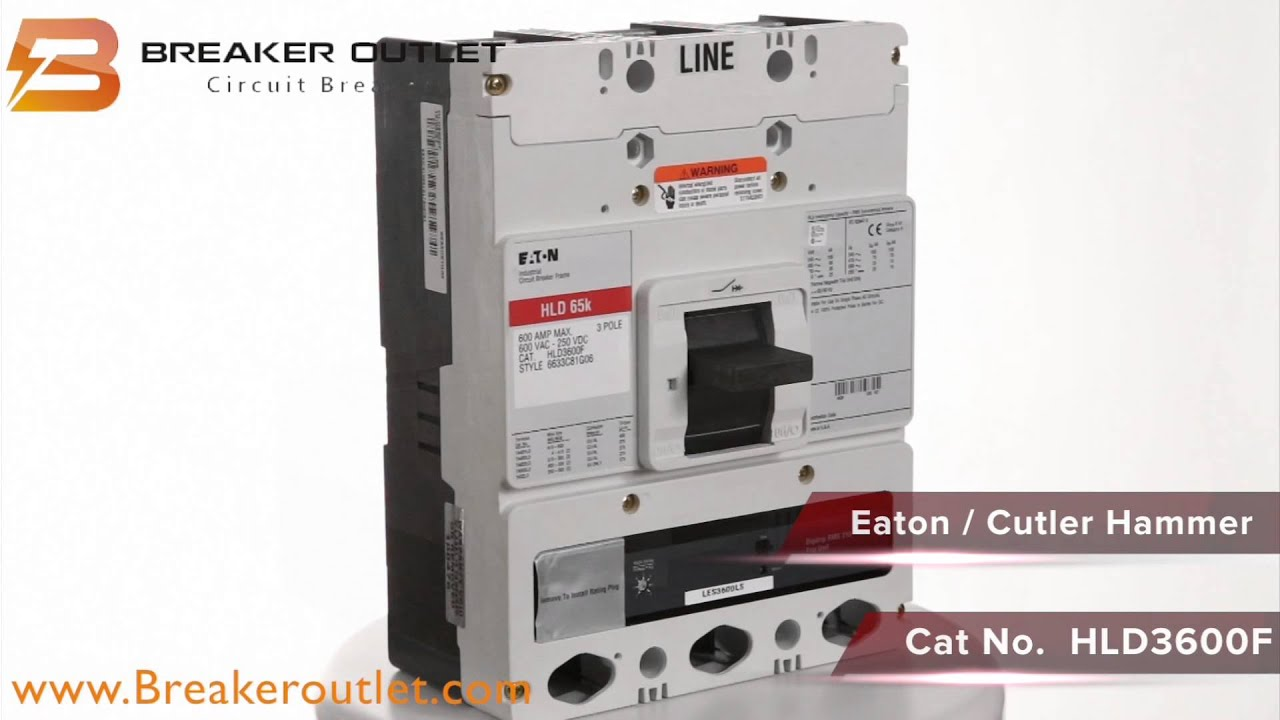 HLD3400F Eaton Cutler Hammer 65k Rated Circuit Breaker 600A 600V 3P