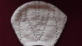 Вязание женского берета спицами. Видео по запросу.