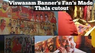 Viswasam Banner's An Cutout Fan's Made | Musically Dubsmash | Bangalore Central...