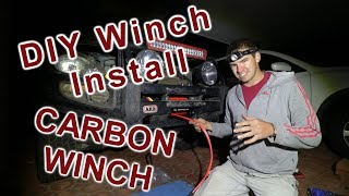 How To Install A 4wd Winch | Carbon 12000lb Winch | Project Cyan