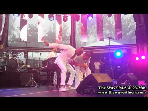 Kem performing at the Saint Lucia Jazz & Arts Festival 2014