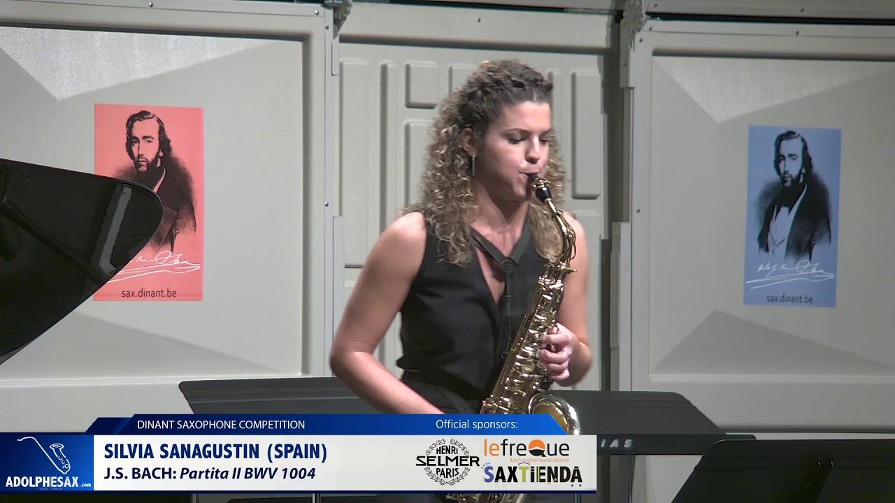 Silvia Sanagustin (Spain) - Partita II BWV1004 by J S  Bach (Dinant 2019)