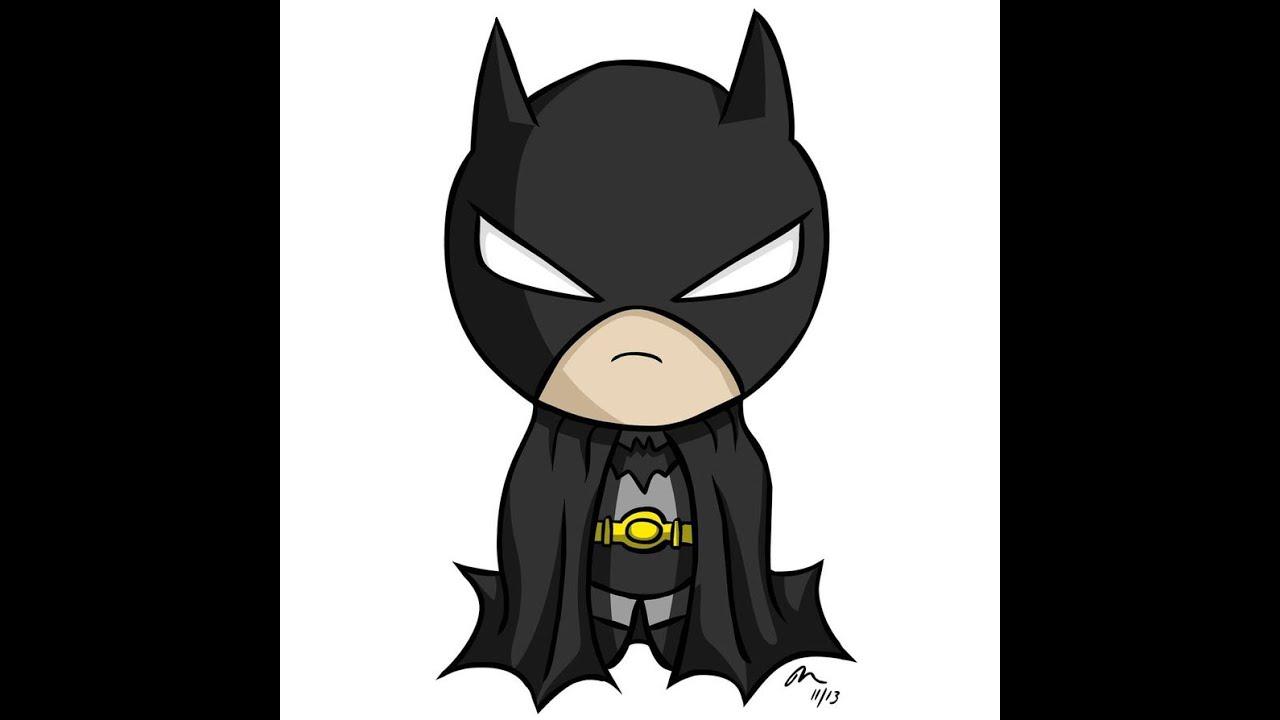 chibi batman speedart - YouTube