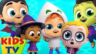 Five Little Monsters | Halloween Songs for Babies | Spooky Cartoon | Kids Tv