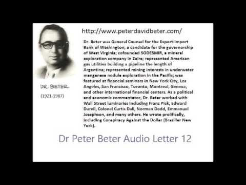Dr. Peter Beter Audio Letter 12: Enslavement; Economy; World Government - May 26, 1976