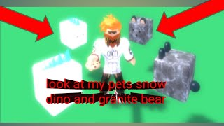 Roblox cookie simulator part 17: look at my pets snow Dino and granite bear
