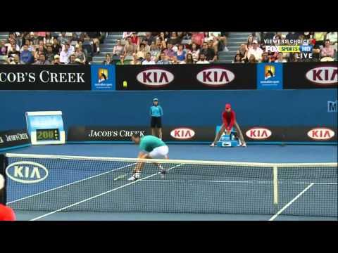 Australian Open 2012 R3 - Murray vs Llodra HD highlights
