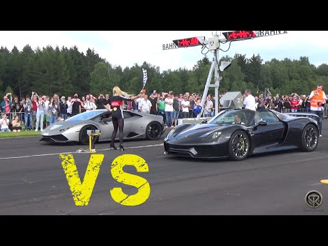 porsche 918 spyder vs lamborghini aventador pirelli edi doovi. Black Bedroom Furniture Sets. Home Design Ideas