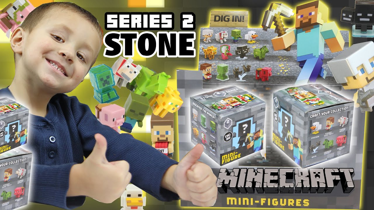 Minecraft STONE Series 2 Blind Boxes Opening Mini Figures