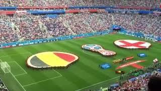 Bélgica 2 x 0 Inglaterra - Gols e Reação da torcida belga